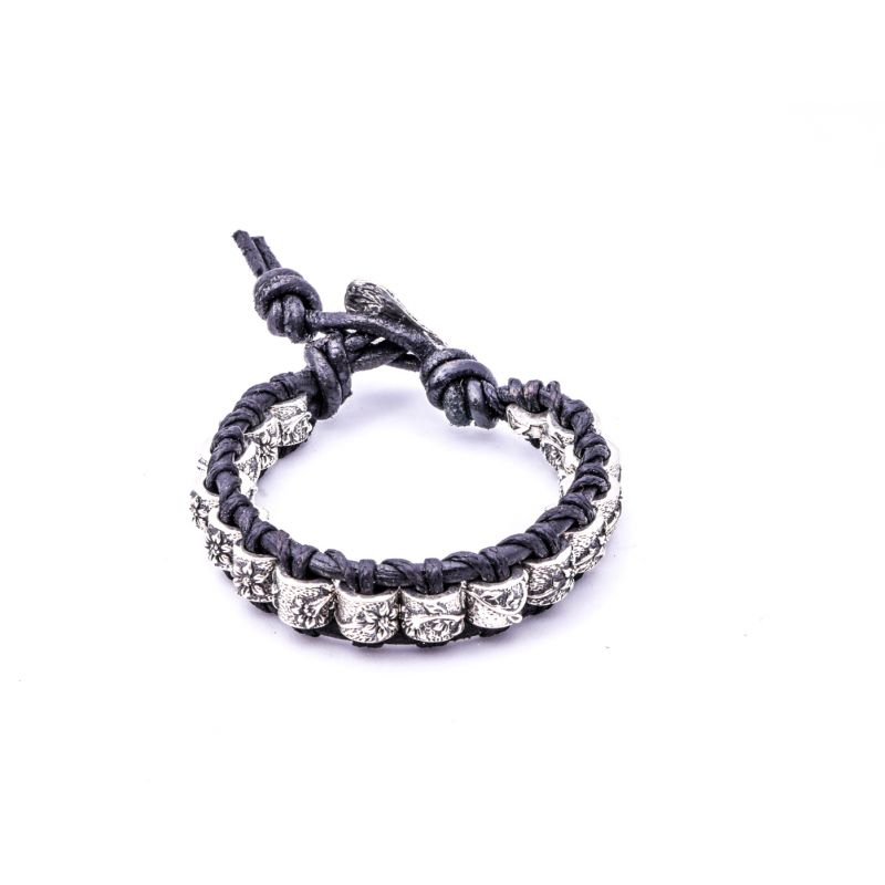 Leather Silver Bracelet II