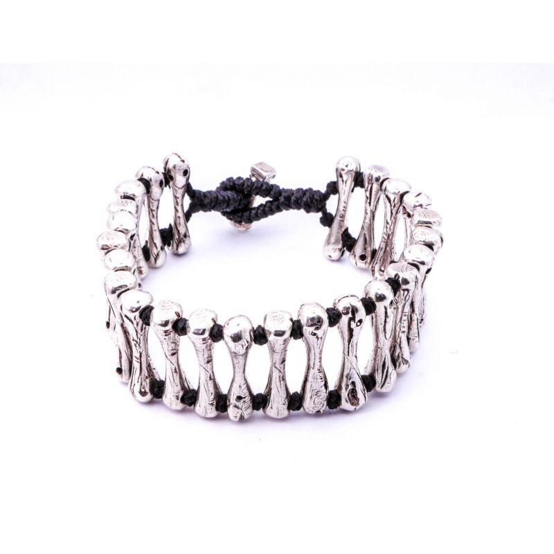 Silver Handcrafterd Bone Bracelet