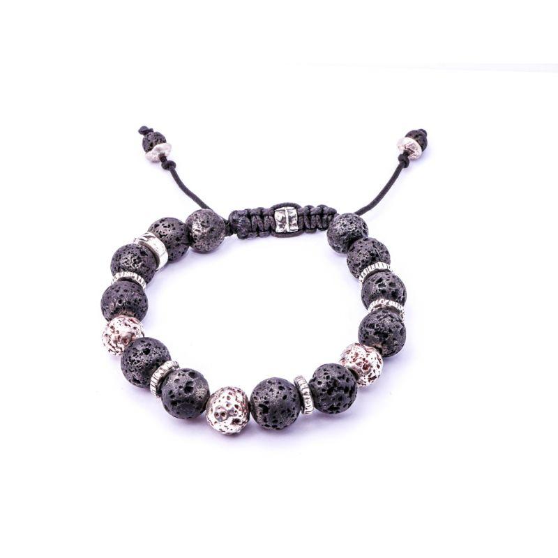 Lava Silver Bracelet