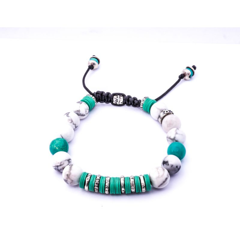 Howlite & Silver Bracelet